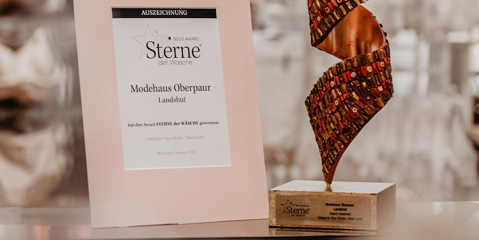 Sterne der Wäsche-Award geht an Oberpaur Landshut!