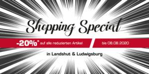 Shopping Special: -20% Rabatt auf alle reduzierten Artikel